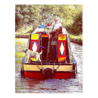 Narrowboat Henry, Coventry Canal, Nuneaton. Postcard