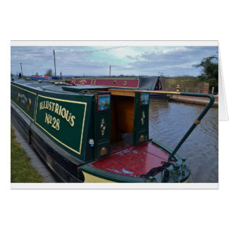 Narrowboat Illustrious Card