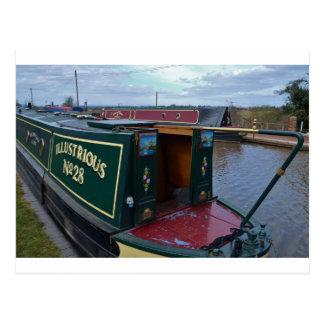 Narrowboat Illustrious Postcard
