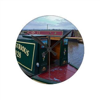 Narrowboat Illustrious Round Clock