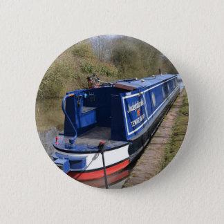 Narrowboat Indefatigable Pinback Button