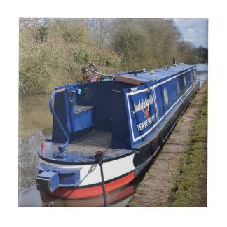 Narrowboat infatigable azulejo cuadrado pequeño