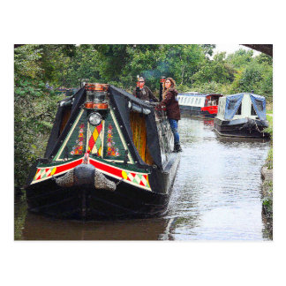 Narrowboat Lost The Plot, Coventry Canal, Nuneaton Postcard