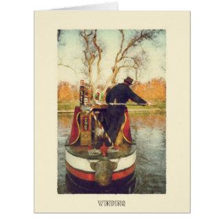 Narrowboat winding card