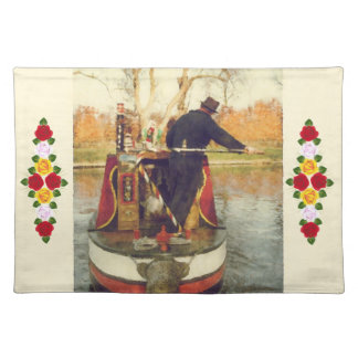 Narrowboat winding placemat