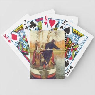 Narrowboat winding playing cards