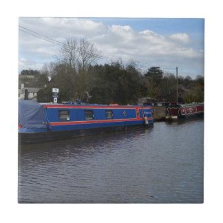 Narrowboats Azulejo Cuadrado Pequeño