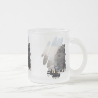 NARROWBOATS FROSTED GLASS COFFEE MUG