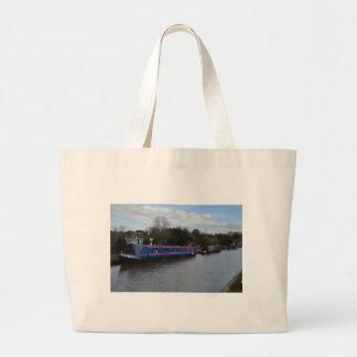Narrowboats Large Tote Bag