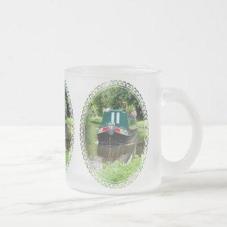 NARROWBOATS UK FROSTED GLASS COFFEE MUG