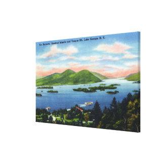 Narrows, Hundred Islands, Tongue Mountain View Canvas Print