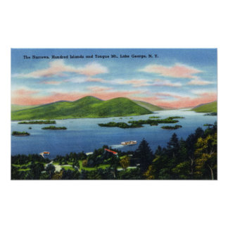Narrows, Hundred Islands, Tongue Mountain View Poster