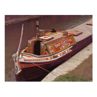 Narroxboat 'Gifford', used on the UK canals Postcard