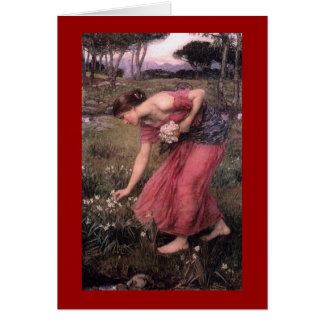 Narsissus Picking Flowers Greeting Card