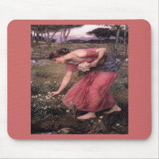 Narsissus Picking Flowers Mousepad