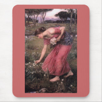 Narsissus Picking Flowers Mouse Pad