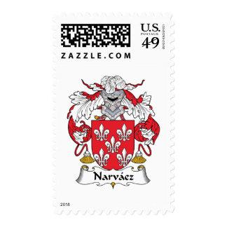 Narvaez Family Crest Postage Stamp