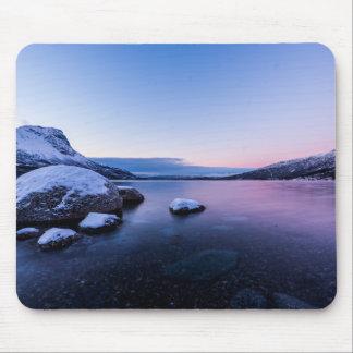 Narvik Fjord in Winter Mousepad