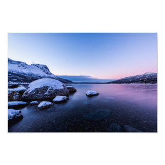 Narvik Fjord in Winter Photo Print