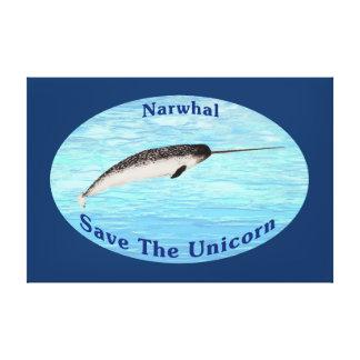 Narwhal - ahorre el unicornio lona estirada galerías