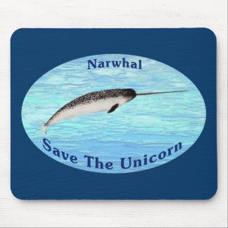 Narwhal - ahorre el unicornio mouse pad
