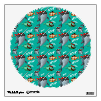 Narwhal and Fish Pirate Pattern Wall Sticker