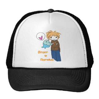 Narwhal and Ginger A-wear-ness. Trucker Hat