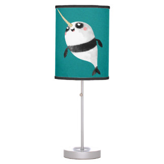 Narwhal and Panda in One Desk Lamp