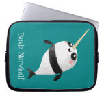 Narwhal and Panda in One Laptop Computer Sleeve