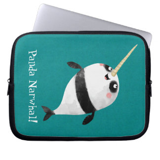 Narwhal and Panda in One Laptop Sleeve
