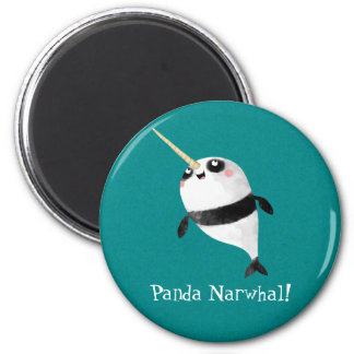 Narwhal and Panda in One Refrigerator Magnets