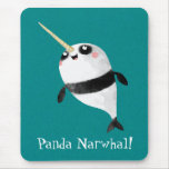 Narwhal and Panda in One Mouse Pad