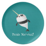 Narwhal and Panda in One Plate