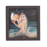 Narwhal and the nautilus original painting premium keepsake box