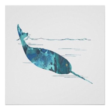 Narwhal Art Poster