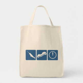 Narwhal - Bacon - Midnight Grocery Tote Bag