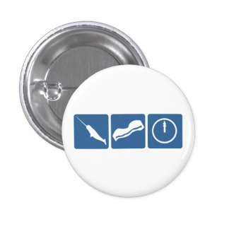 Narwhal - Bacon - Midnight 1 Inch Round Button