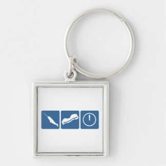 Narwhal - Bacon - Midnight Keychain