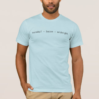 narwhal - bacon - midnight T-Shirt