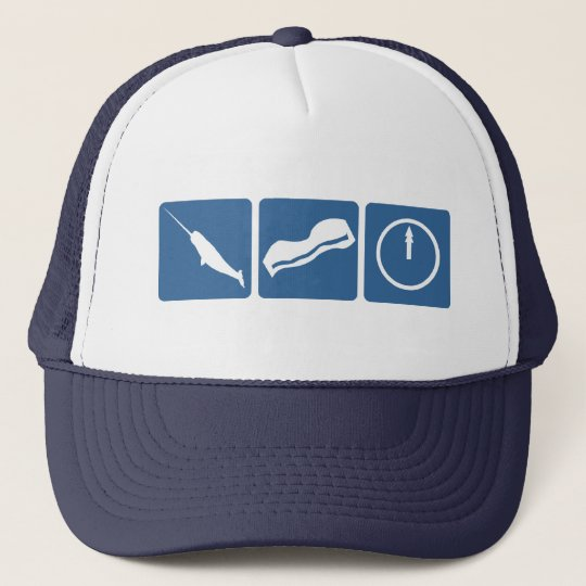 Narwhal - Bacon - Midnight Trucker Hat
