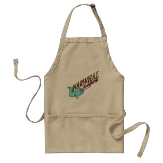 Narwhal Bacon Retro Logo Adult Apron