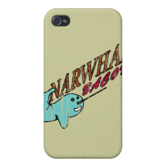 Narwhal Bacon Retro Logo Cases For iPhone 4