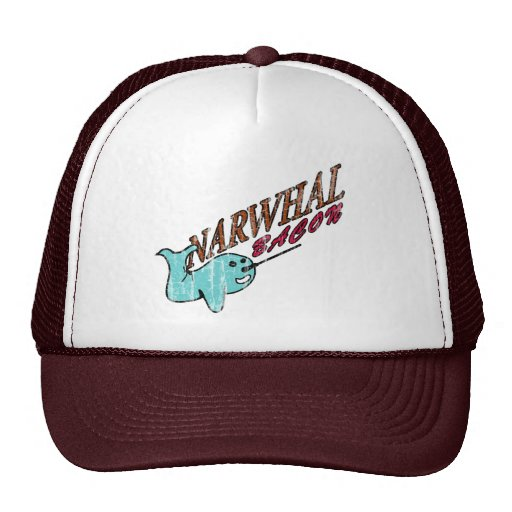 Narwhal Bacon Retro Logo Trucker Hat