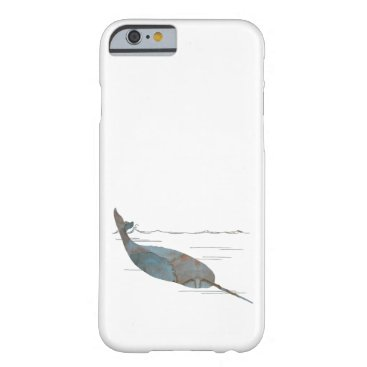 Beach Themed Narwhal Barely There iPhone 6 Case
