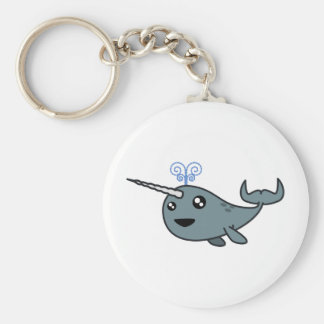 Narwhal! Basic Round Button Keychain
