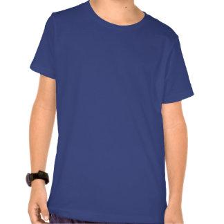 Narwhal blanco y gris lindo con el colmillo camiseta