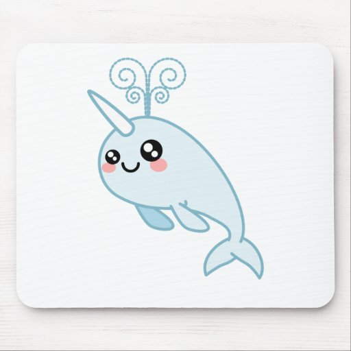 Narwhal Cutie Mouse Pad
