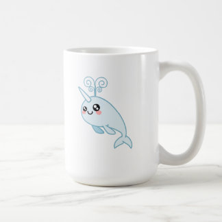 Narwhal Cutie Taza Básica Blanca