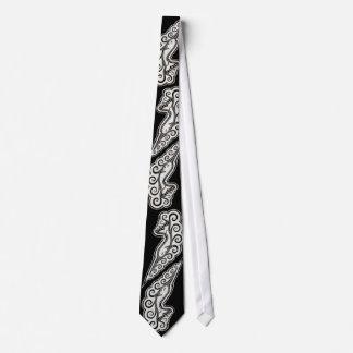Narwhal de plata agita arte de estilo celta corbatas personalizadas
