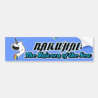 Narwhal: El unicornio del mar Etiqueta De Parachoque